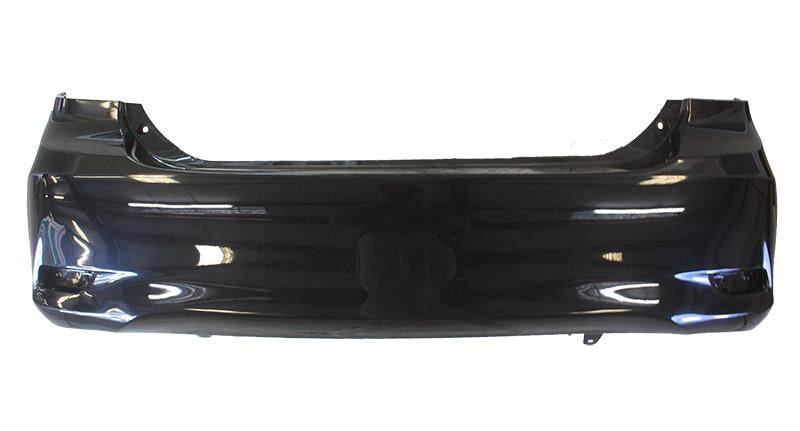 2013 Toyota Corolla Rear Bumper Cover, Sedan, S, XRS, Canada Built, With Spoiler Hole, Painted Hot Lava Metallic (4R8)