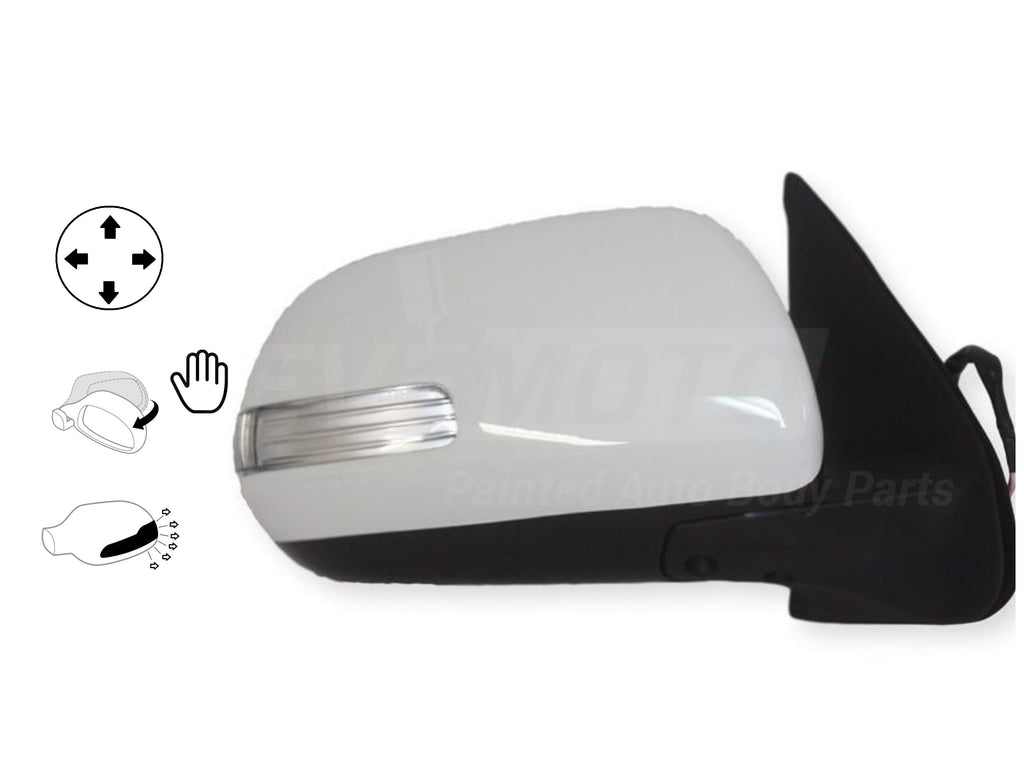 2012-2015 Toyota Tacoma Mirror (Driver Side); Pick-up; 2WD/4WD; Power; Manual Folding; Non-Heated; w/ Turn Signal Light; w/o Cover; TO1320283; 8794004211