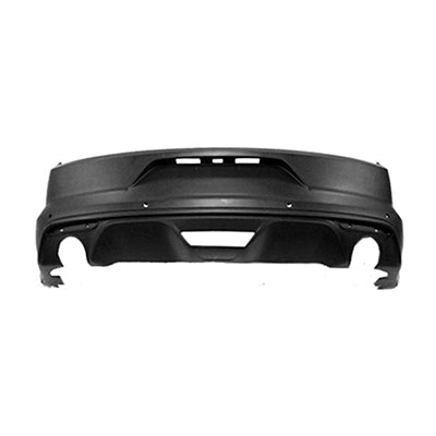 2015-2017 Ford Mustang Rear Bumper Cover (GT; Except 5.0 Liter Engine; w/o Park Assist Sensor Holes) FO1100708