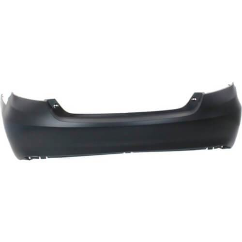 2015-2017 Toyota Camry Rear Bumper; LE_XLE Models; w_o Park Assist Sensor Holes; Made of Plastic; TO1100315; 5215906989