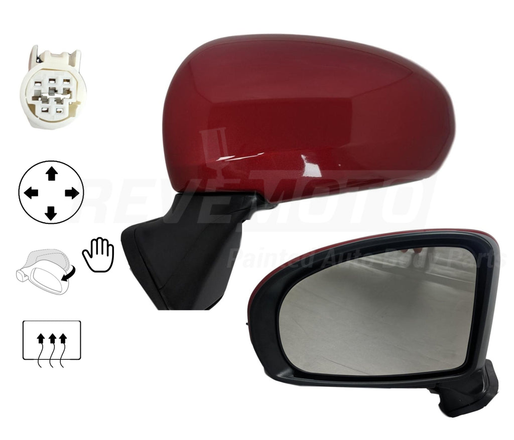 2010-2015 Toyota Prius Mirror (Driver Side); Power; Heated; Manual Folding; w_o Signal Light; TO1320262; 8794047180