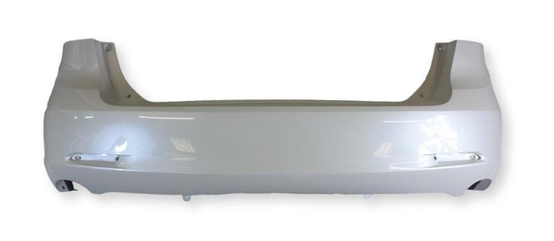 2009-2016 Toyota Venza Rear Bumper; Base_LE_XLE Models (14-16); w_o Park Assisr Sensor Holes; Made of Plastic; TO1100277; 521590T900