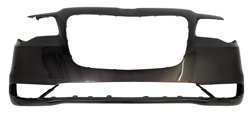 Chrysler 15-18 300 Front Bumper; Except SRT-8; w/o Park Assist Sensor Holes; w/o Tow Hook Hole; Fits 2017-2018 S Models; w/o Appearance Package; Use w/ 3-PC Trim Moldings; 5PN41TZZAE