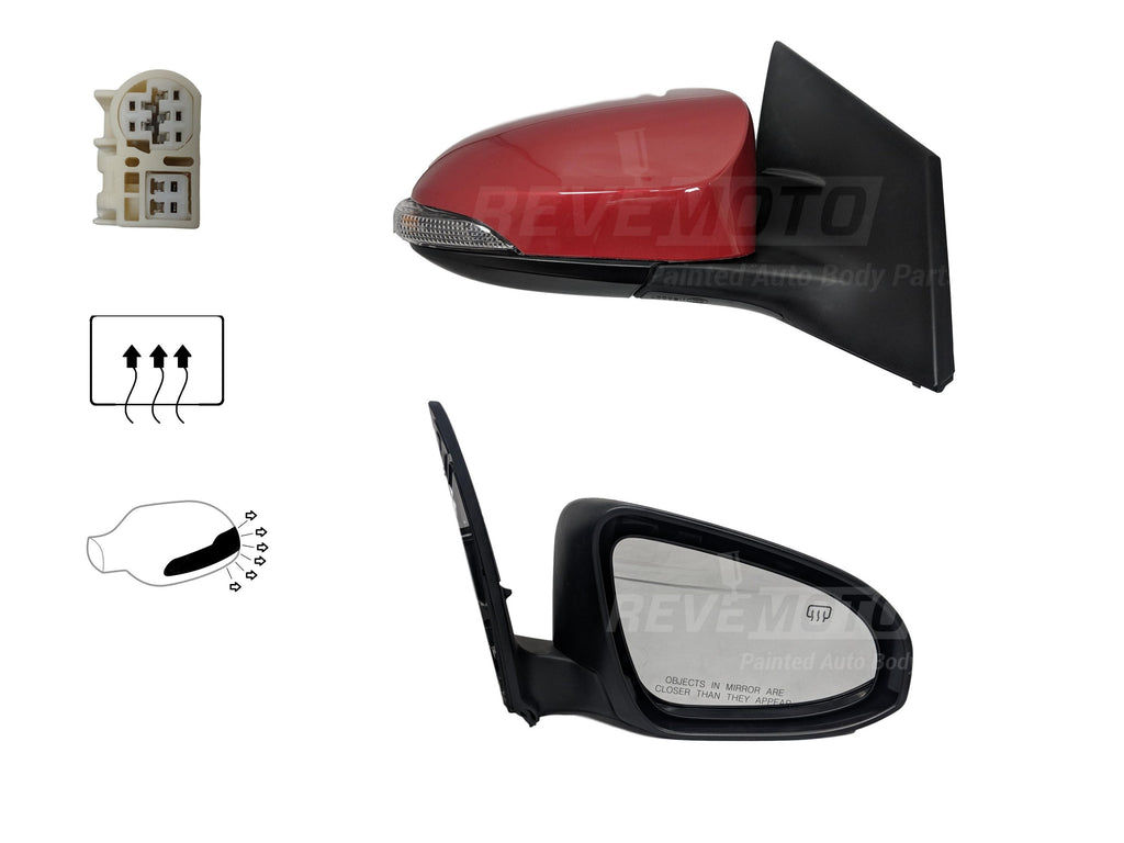 Heated, Foldaway For Toyota Corolla OE Quality Replacement Value ...