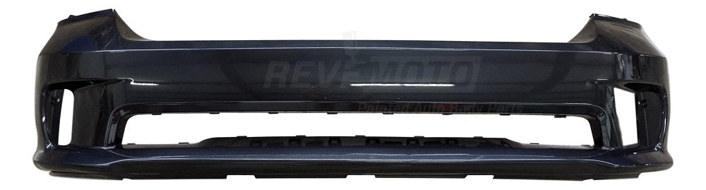 2014 Dodge Ram Front Bumper Painted Black (PX8), Without Sensors