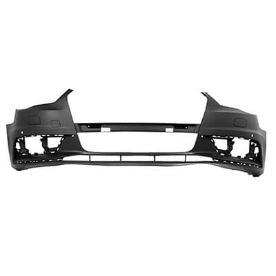 AUDI A3 FRONT BUMPER COVER WO SLINE W HEAD LIGHT WASHER HOLES; WO PARK ASSIST SENSOR HOLES SDNCONV_AU1000218