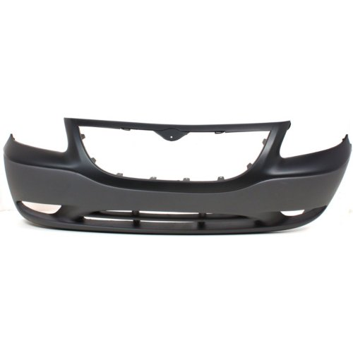 Chrysler 01-03 Voyager Front Bumper; Base Model; w/ Fog Holes; Built-in Grille Surround; Smooth Upper; Textured Lower; UC752W1AA