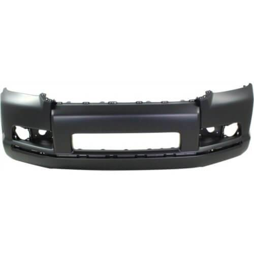 2011 Toyota 4Runner Front Bumper Cover, Limited, SR5 Models, With Holes for Chrome Trim,Spoiler, All prime With Smooth Upper; Fine Textured Lower, Painted Black (202)