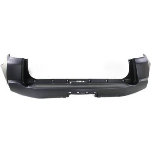 Toyota 4Runner Rear Bumper 14-19; Trail_Trail Premium_Offroad Models; w_o Chrome Trim; w_ Lower Center Cover; Made of Plastic; 5215935923