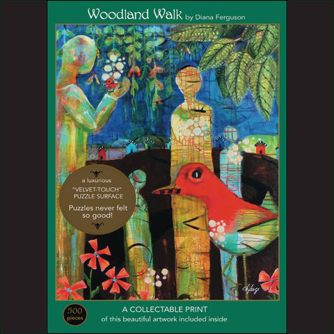 Woodland Walk; 500-Piece Velvet-Touch, Jigsaw Puzzle