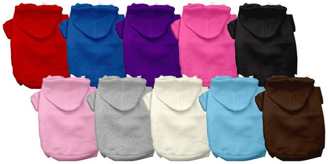 Blank Pet Hoodies with fleece lining