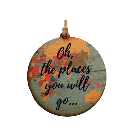 Oh The Places You Will Go Map Ornament