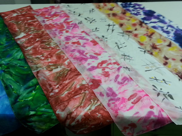 Poetry/Quote Silk Scarf Painting Class