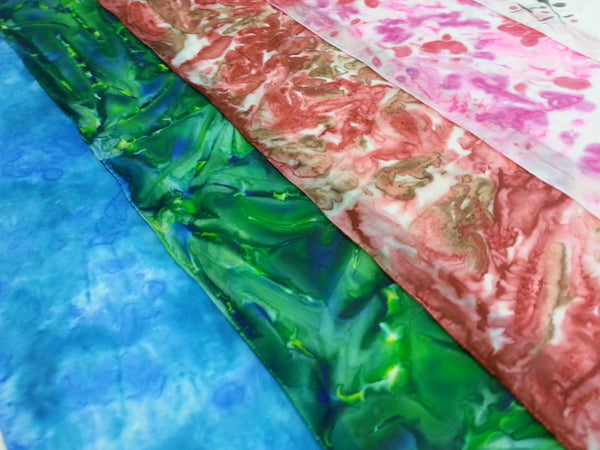 Colorful Grounds Sip & Silk! Silk Scarf Painting