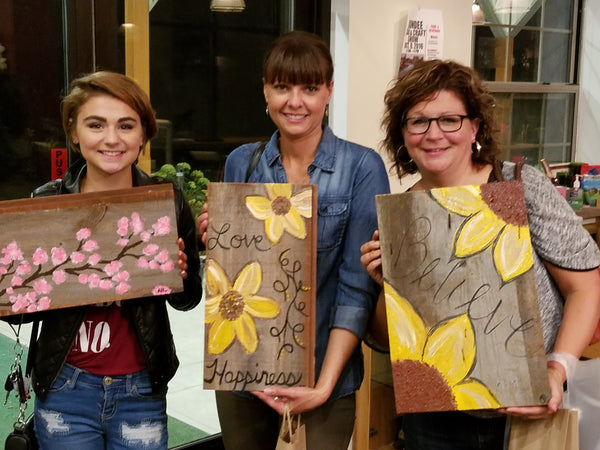 Colorful Grounds Barnwood Painting Party - The Reschedule!