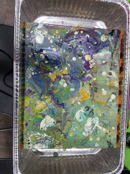 "Breakfast Art Club: Acrylic ""Dirty Pour"" Technique"