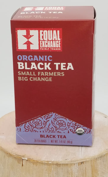 Black Tea, Organic, Fair Trade.
