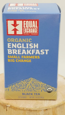English Breakfast Tea, Organic, Fair Trade.