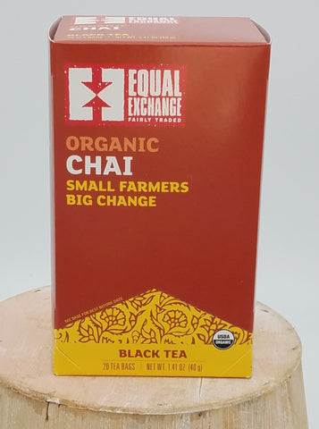 Chai Tea, Organic, Fair Trade.