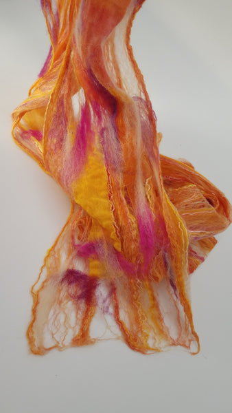 Sunset Felted Lace Scarf