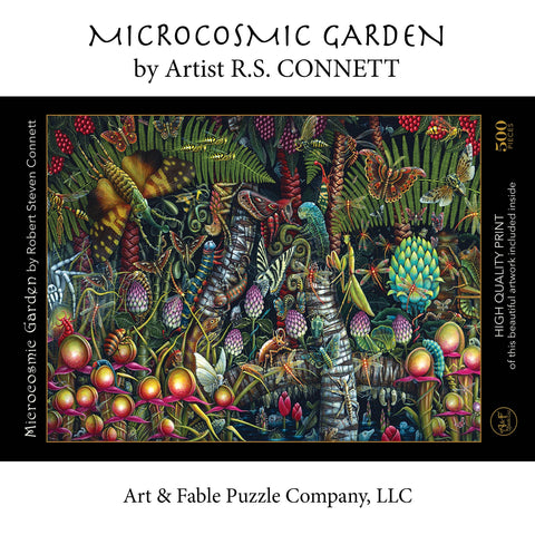 "Microcosmic Garden; 500-pc ""Velvet-Touch"" Jigsaw Puzzle"