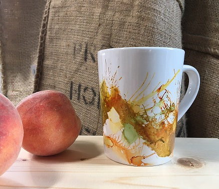 Colorful Grounds Walk In Wednesday: Decorated Coffee Mug Using Alcohol Ink