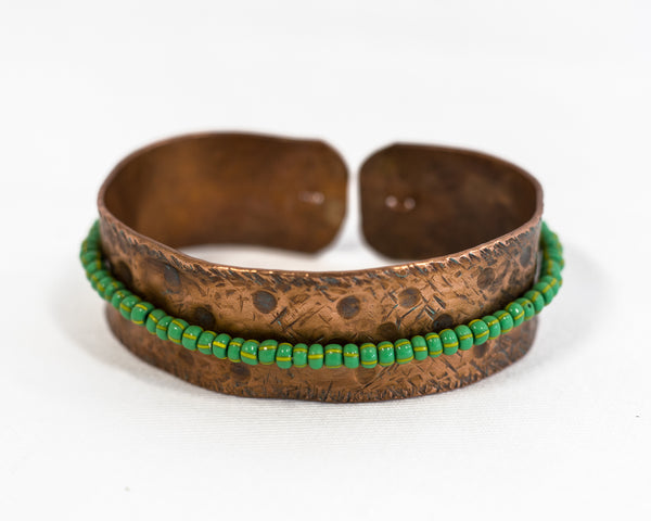 Patterned Copper Bracelet
