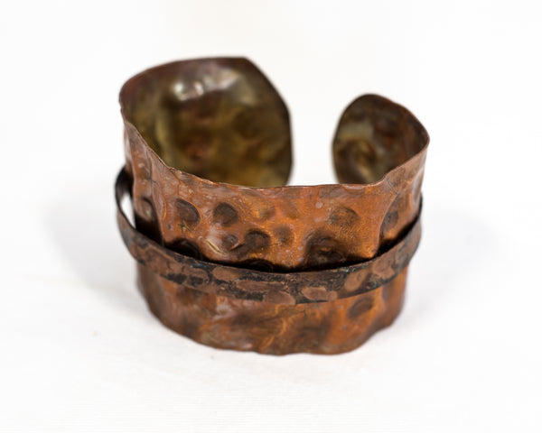 Pounded Metal Work Bracelet