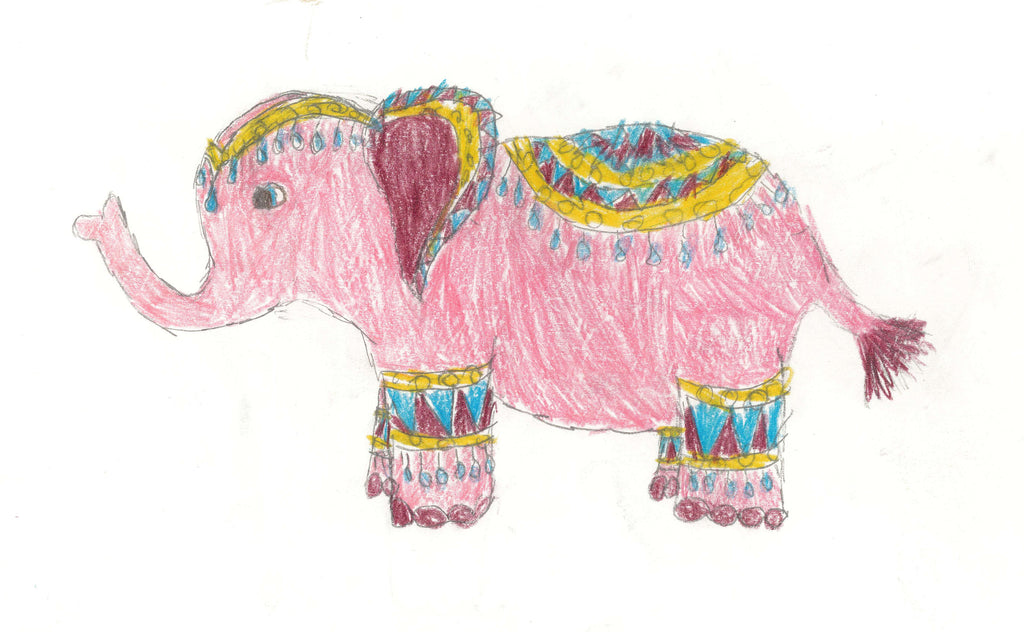 Miss E Elephant Set of 5 Notecards
