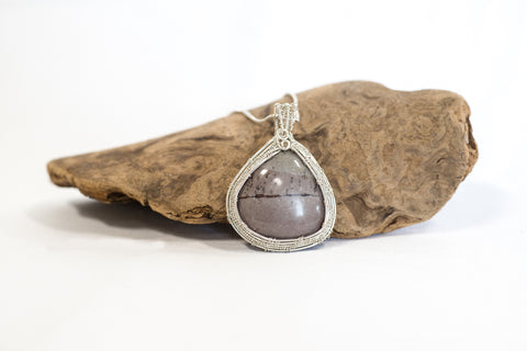 Purple and Gray Jasper Necklace