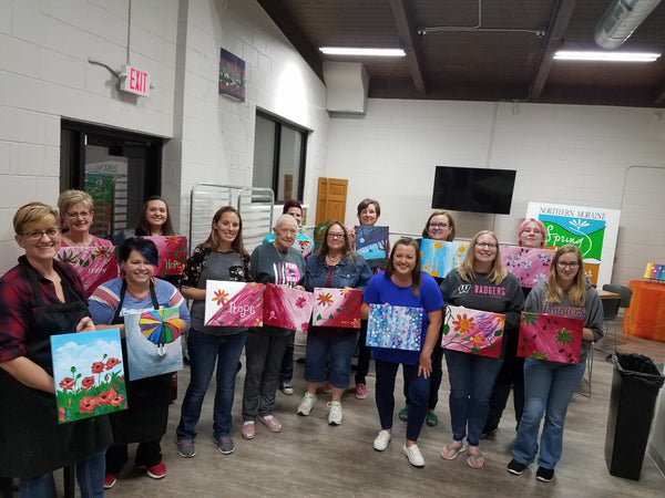 Acrylic on Canvas Painting Party: Hope 2021