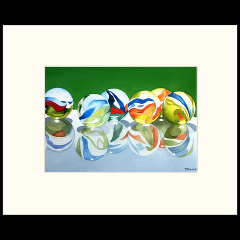 Marbles on Glass