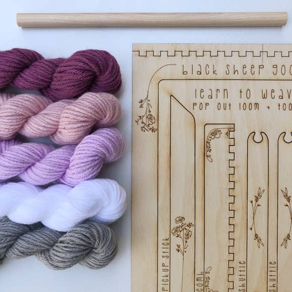 DIY Tapestry Weaving Kit by Black Sheep Goods