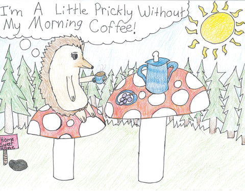 Hedgehog Coffee Notecard Set of 5