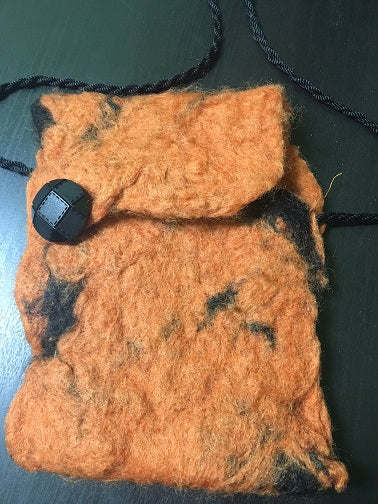 Colorful Grounds Nuno Felted Pouch