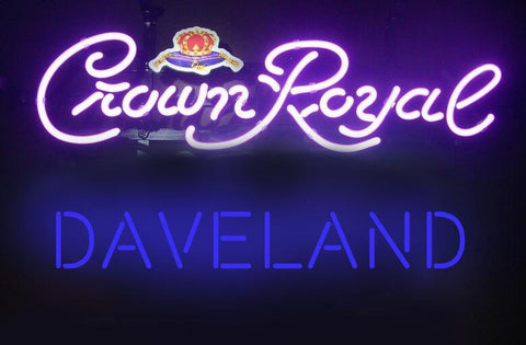 Caveland Crown Royal Neon Sign Glass Tube Neon Light