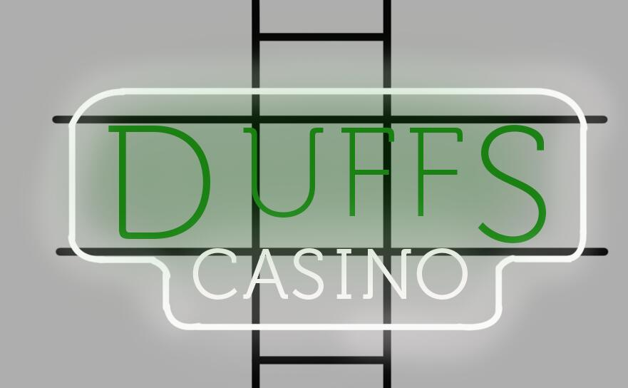 Duffs Casino Neon Sign Glass Tube Neon Light