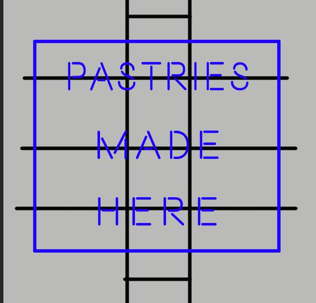 Pastries Made Here Neon Sign Real Glass Tube Neon Light