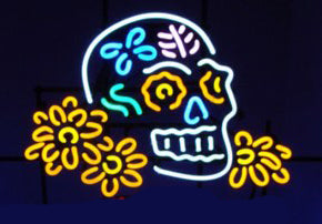 Dia De Los Muertos Skull Neon Sign Real Neon Light