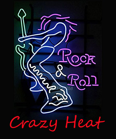 Custom Crazy Heat Rock Roll Neon Sign Real Neon Light