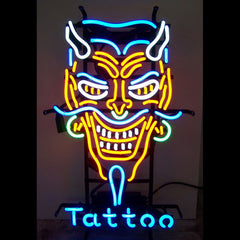 17.Tattoo nail massage salon neon sign