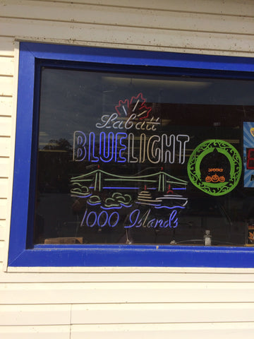 Labatt Blue Light 1000 Islands Neon Sign Real Neon Light
