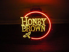 Honey brown neon sign