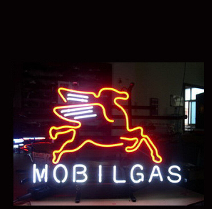 Mobil gasloine Oil Neon Sign