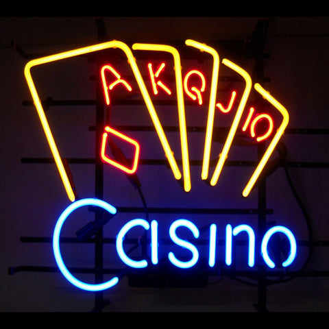Casino Poker Neon Sign - handa field neon sign