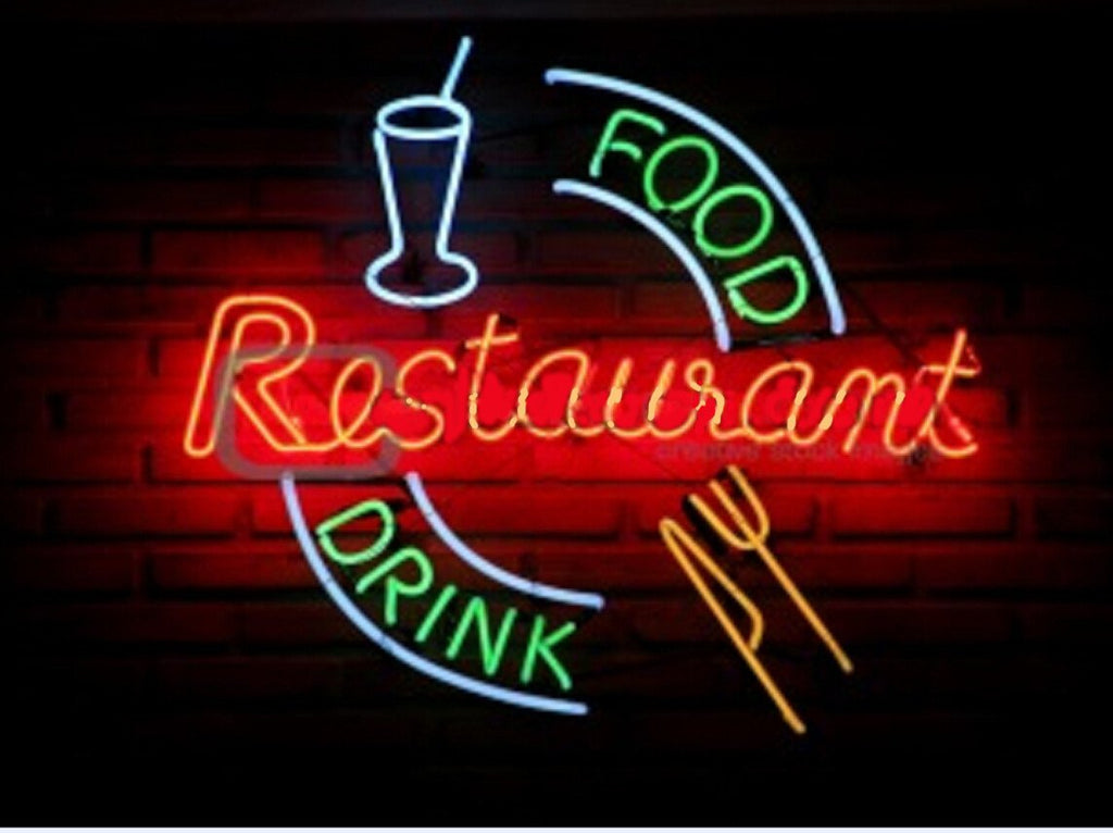 Food Drink Restaurant Neon Sign