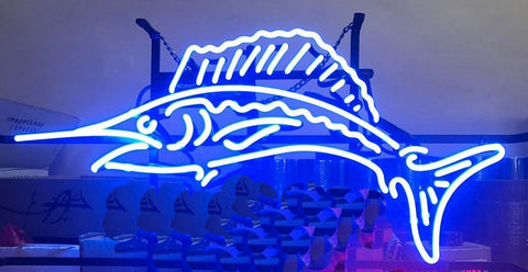 Fish Neon Sign Real Glass Neon Light