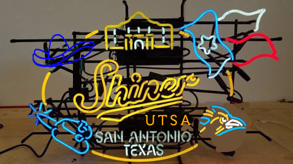 Shinner Beers San Antonio Texas UTSA Neon Sign Custom 001