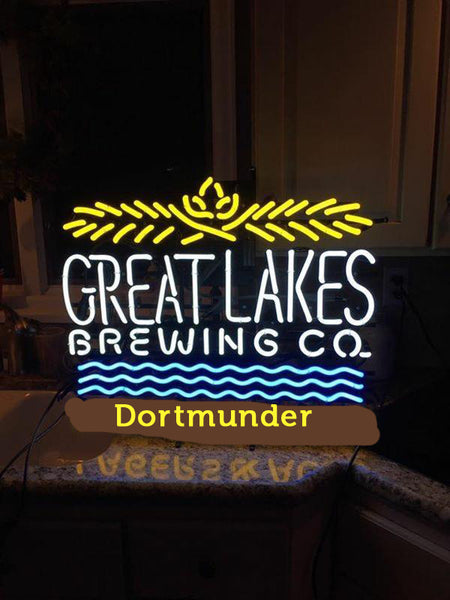Great Lakes Brewery Dortmunder Neon Sign Glass Tube Neon