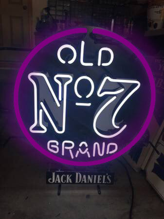 Jack Daniels Old No 2 Grand Neon Sign Real Neon Light